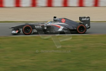 World © Octane Photographic Ltd. Formula 1 Winter testing, Barcelona – Circuit de Catalunya, 19th February 2013. Sauber C32, Esteban Gutierrez Digital Ref: 0576lw1d1292