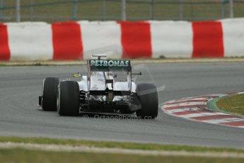 World © Octane Photographic Ltd. Formula 1 Winter testing, Barcelona – Circuit de Catalunya, 19th February 2013. Mercedes AMG Petronas  F1 W04 – Nico Rosberg. Digital Ref: 0576lw1d1636