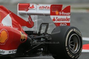 World © Octane Photographic Ltd. Formula 1 Winter testing, Barcelona – Circuit de Catalunya, 19th February 2013. Ferrari F138 – Fernando Alonso rear end detail. Digital Ref: 0576lw1d1654