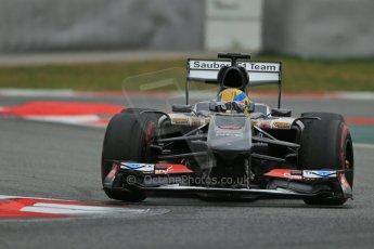World © Octane Photographic Ltd. Formula 1 Winter testing, Barcelona – Circuit de Catalunya, 19th February 2013. Sauber C32, Esteban Gutierrez Digital Ref: 0576lw1d1680