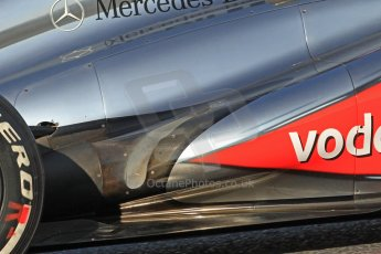 World © Octane Photographic Ltd. Formula 1 Winter testing, Barcelona – Circuit de Catalunya, 20th February 2013. Vodafone McLaren Mercedes MP4/28. Sergio Perez. Digital Ref: