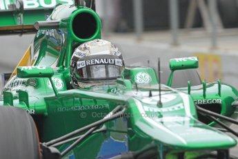 World © Octane Photographic Ltd. Formula 1 Winter testing, Barcelona – Circuit de Catalunya, 21st February 2013. Caterham CT03, Giedo van de Garde.. Digital Ref: 0578cb7d8877