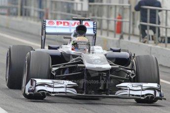 World © Octane Photographic Ltd. Formula 1 Winter testing, Barcelona – Circuit de Catalunya, 21st February 2013, morning sessions. Williams FW35, Pastor Maldonado. Digital Ref: 0578cb7d8881