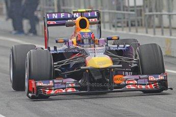 World © Octane Photographic Ltd. Formula 1 Winter testing, Barcelona – Circuit de Catalunya, 21st February 2013. Infiniti Red Bull Racing RB9, Mark Webber. Digital Ref: 0578cb7d8899