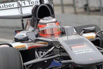 World © Octane Photographic Ltd. Formula 1 Winter testing, Barcelona – Circuit de Catalunya, 21st February 2013. Sauber C32, Nico Hulkenberg. Digital Ref: 0578cb7d8910