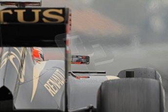 World © Octane Photographic Ltd. Formula 1 Winter testing, Barcelona – Circuit de Catalunya, 21st February 2013. Lotus E31, Romain Grosjean. Digital Ref: 0578cb7d8918