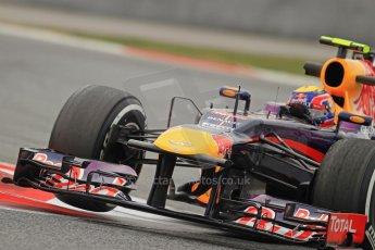 World © Octane Photographic Ltd. Formula 1 Winter testing, Barcelona – Circuit de Catalunya, 21st February 2013. Infiniti Red Bull Racing RB9, Mark Webber. Digital Ref: 0578cb7d9134