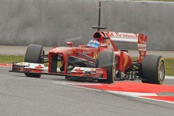 World © Octane Photographic Ltd. Formula 1 Winter testing, Barcelona – Circuit de Catalunya, 21st February 2013. Ferrari F138 - Fernando Alonso. Digital Ref: 0578cb7d9212