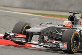 World © Octane Photographic Ltd. Formula 1 Winter testing, Barcelona – Circuit de Catalunya, 21st February 2013. Sauber C32, Nico Hulkenberg. Digital Ref: 0578cb7d9233
