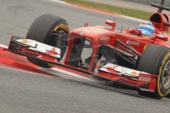World © Octane Photographic Ltd. Formula 1 Winter testing, Barcelona – Circuit de Catalunya, 21st February 2013. Ferrari F138 - Fernando Alonso. Digital Ref: 0578cb7d9246
