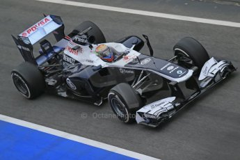 World © Octane Photographic Ltd. Formula 1 Winter testing, Barcelona – Circuit de Catalunya, 21st February 2013, morning sessions. Williams FW35, Pastor Maldonado. Digital Ref: 0578lw1d2867