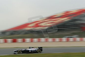 World © Octane Photographic Ltd. Formula 1 Winter testing, Barcelona – Circuit de Catalunya, 21st February 2013, morning sessions. Williams FW35, Pastor Maldonado. Digital Ref: 0578lw1d3543
