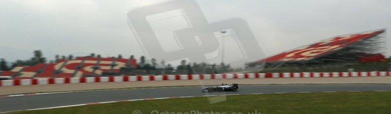 World © Octane Photographic Ltd. Formula 1 Winter testing, Barcelona – Circuit de Catalunya, 21st February 2013, morning sessions. Williams FW35, Pastor Maldonado. Digital Ref: 0578lw1d3618