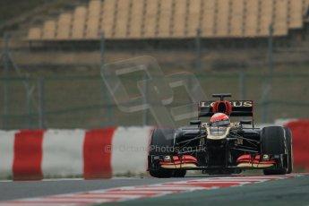 World © Octane Photographic Ltd. Formula 1 Winter testing, Barcelona – Circuit de Catalunya, 21st February 2013. Lotus E31, Romain Grosjean. Digital Ref: 0578lw1d3787