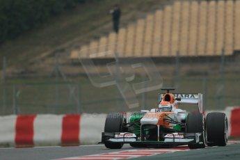 World © Octane Photographic Ltd. Formula 1 Winter testing, Barcelona – Circuit de Catalunya, 21st February 2013. Sahara Force India VJM06 – Adrian Sutil. Digital Ref: 0578lw1d3820