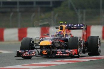World © Octane Photographic Ltd. Formula 1 Winter testing, Barcelona – Circuit de Catalunya, 21st February 2013. Infiniti Red Bull Racing RB9, Mark Webber. Digital Ref: 0578lw1d3877