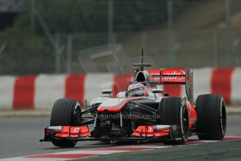 World © Octane Photographic Ltd. Formula 1 Winter testing, Barcelona – Circuit de Catalunya, 21st February 2013. Vodafone McLaren Mercedes MP4/28, Jenson Button. Digital Ref: 0578lw1d3898