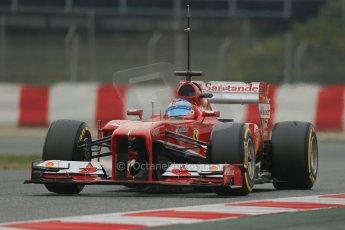 World © Octane Photographic Ltd. Formula 1 Winter testing, Barcelona – Circuit de Catalunya, 21st February 2013. Ferrari F138 - Fernando Alonso. Digital Ref: 0578lw1d3926