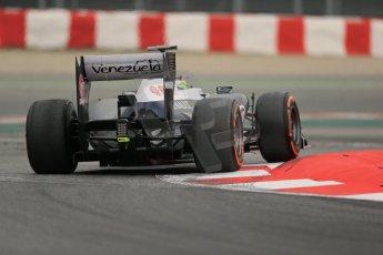 World © Octane Photographic Ltd. Formula 1 Winter testing, Barcelona – Circuit de Catalunya, 21st February 2013, morning sessions. Williams FW35, Pastor Maldonado. Digital Ref: 0578lw1d3989