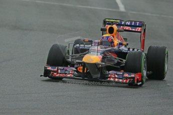 World © Octane Photographic Ltd. Formula 1 Winter testing, Barcelona – Circuit de Catalunya, 22nd February 2013. Infiniti Red Bull Racing RB9, Mark Webber. Digital Ref: 0579cb1d4413
