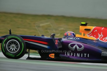 World © Octane Photographic Ltd. Formula 1 Winter testing, Barcelona – Circuit de Catalunya, 22nd February 2013. Infiniti Red Bull Racing RB9, Mark Webber. Digital Ref: 0579cb1d4420