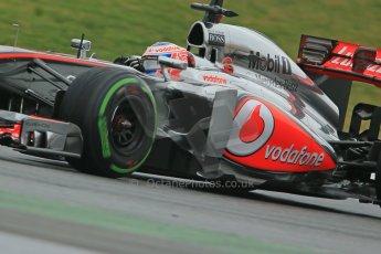 World © Octane Photographic Ltd. Formula 1 Winter testing, Barcelona – Circuit de Catalunya, 22nd February 2013. Vodafone McLaren Mercedes MP4/28. Jenson Button. Digital Ref: 0579cb1d4572