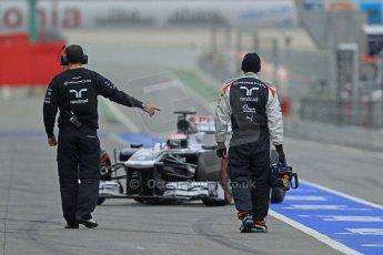 World © Octane Photographic Ltd. Formula 1 Winter testing, Barcelona – Circuit de Catalunya, 22nd February 2013, morning sessions. Williams FW35, Valterri Bottas. Digital Ref: 0579cb7d9274