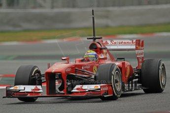 World © Octane Photographic Ltd. Formula 1 Winter testing, Barcelona – Circuit de Catalunya, 22nd February 2013. Ferrari F138 – Felipe Massa. Digital Ref: 0579cb7d9412