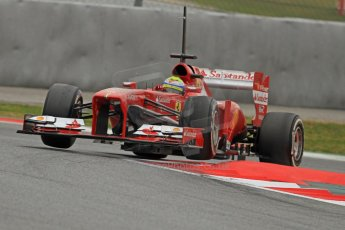 World © Octane Photographic Ltd. Formula 1 Winter testing, Barcelona – Circuit de Catalunya, 22nd February 2013. Ferrari F138 – Felipe Massa. Digital Ref: 0579cb7d9506