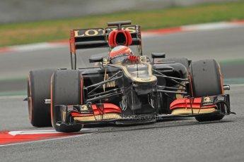 World © Octane Photographic Ltd. Formula 1 Winter testing, Barcelona – Circuit de Catalunya, 22nd February 2013. Lotus E31, Romain Grosjean. Digital Ref: 0579cb7d9562