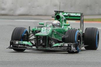 World © Octane Photographic Ltd. Formula 1 Winter testing, Barcelona – Circuit de Catalunya, 22nd February 2013. Caterham CT03, Giedo van de Garde. Digital Ref: 0579cb7d9931