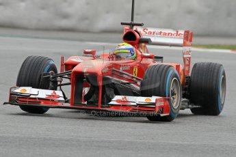World © Octane Photographic Ltd. Formula 1 Winter testing, Barcelona – Circuit de Catalunya, 22nd February 2013. Ferrari F138 – Felipe Massa. Digital Ref: 0579cb7d9958