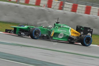 World © Octane Photographic Ltd. Formula 1 Winter testing, Barcelona – Circuit de Catalunya, 22nd February 2013. Caterham CT03, Giedo van de Garde. Digital Ref: 0579cb7d9970
