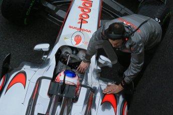World © Octane Photographic Ltd. Formula 1 Winter testing, Barcelona – Circuit de Catalunya, 21st February 2013. Vodafone McLaren Mercedes MP4/28, Jenson Button. Digital Ref: 0579lw1d4276