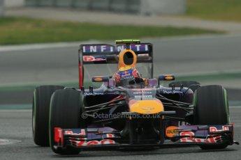 World © Octane Photographic Ltd. Formula 1 Winter testing, Barcelona – Circuit de Catalunya, 22nd February 2013. Infiniti Red Bull Racing RB9, Mark Webber. Digital Ref: 0579lw1d4735