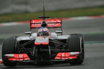 World © Octane Photographic Ltd. Formula 1 Winter testing, Barcelona – Circuit de Catalunya, 22nd February 2013. Vodafone McLaren Mercedes MP4/28. Jenson Button. Digital Ref: 0579lw1d4981