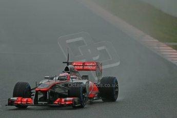 World © Octane Photographic Ltd. Formula 1 Winter testing, Barcelona – Circuit de Catalunya, 22nd February 2013. Vodafone McLaren Mercedes MP4/28. Jenson Button. Digital Ref: 0579lw1d5203