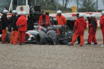 World © Octane Photographic Ltd. Formula 1 Winter testing, Barcelona – Circuit de Catalunya, 22nd February 2013. Sauber C32, Esteban Gutierrez. Digital Ref: 0579lw1d5324