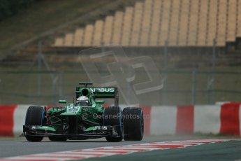 World © Octane Photographic Ltd. Formula 1 Winter testing, Barcelona – Circuit de Catalunya, 22nd February 2013. Caterham CT03, Giedo van de Garde. Digital Ref: 0579lw1d5455