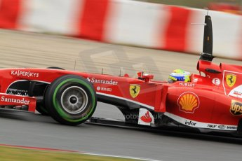 World © Octane Photographic Ltd. Formula 1 Winter testing, Barcelona – Circuit de Catalunya, 22nd February 2013. Ferrari F138 – Felipe Massa. Digital Ref: 0579lw7d9356