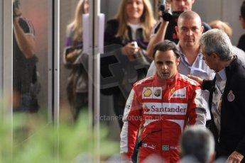 World © Octane Photographic Ltd. F1 Monaco GP, Monte Carlo - Saturday 25th May - Practice 3. Scuderia Ferrari F138 - Felipe Massa walks back towards the pits after his Ste.Devote crash. Digital Ref : 0707cb7d2425