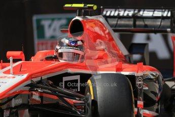 World © Octane Photographic Ltd. F1 Monaco GP, Monte Carlo - Saturday 25th May - Practice 3. Marussia F1 Team MR02 - Max Chilton. Digital Ref : 0707lw1d9499