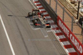 World © Octane Photographic Ltd. F1 Monaco GP, Monte Carlo - Saturday 25th May - Practice 3. Lotus F1 Team E21 - Kimi Raikkonen. Digital Ref : 0707lw7d8480