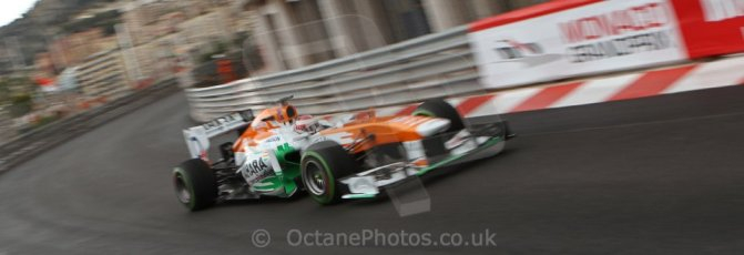 World © Octane Photographic Ltd. F1 Monaco GP, Monte Carlo - Saturday 25th May - Qualifying. Sahara Force India VJM06 - Paul di Resta. Digital Ref : 0708lw7d8646