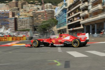 World © 2013 Octane Photographic Ltd. F1 Monaco GP, Monte Carlo -Thursday 23rd May 2013 - Practice 1. Scuderia Ferrari F138 - Felipe Massa. Digital Ref : 0692lw1d7032