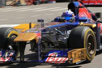 World © 2013 Octane Photographic Ltd. F1 Monaco GP, Monte Carlo -Thursday 23rd May 2013 - Practice 1. Scuderia Toro Rosso STR8 - Daniel Ricciardo. Digital Ref : 0692lw1d7124