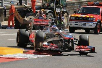 World © 2013 Octane Photographic Ltd. F1 Monaco GP, Monte Carlo - Thursday 23rd May 2013 - Practice 1. Vodafone McLaren Mercedes MP4/28 - Jenson Button. Digital Ref : 0692lw1d7188