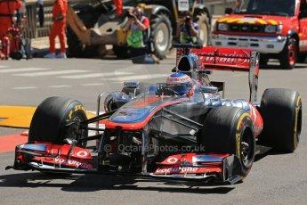 World © 2013 Octane Photographic Ltd. F1 Monaco GP, Monte Carlo - Thursday 23rd May 2013 - Practice 1. Vodafone McLaren Mercedes MP4/28 - Jenson Button. Digital Ref : 0692lw1d7193