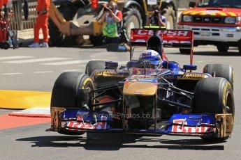 World © 2013 Octane Photographic Ltd. F1 Monaco GP, Monte Carlo -Thursday 23rd May 2013 - Practice 1. Scuderia Toro Rosso STR8 - Daniel Ricciardo. Digital Ref : 0692lw1d7227