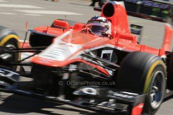 World © 2013 Octane Photographic Ltd. F1 Monaco GP, Monte Carlo -Thursday 23rd May 2013 - Practice 1. Marussia F1 Team MR02 - Max Chilton. Digital Ref : 0692lw1d7319